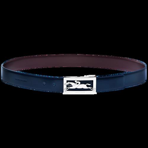 Delta Box Men's belt, Navy/Burgundy