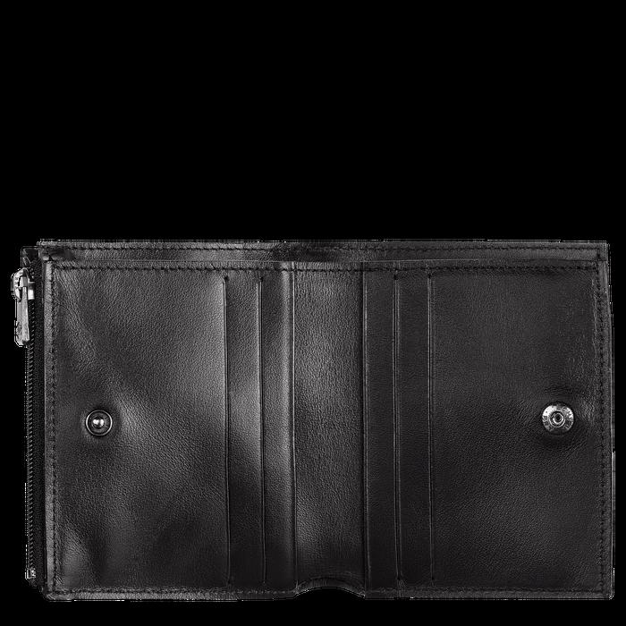 Croco Block Portefeuille compact, Noir