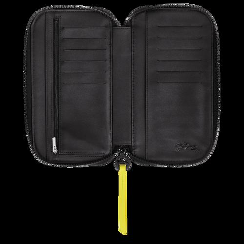Portefeuille long zippé, Noir/Kaki, hi-res - Vue 2 de 2