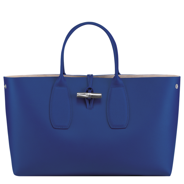 Roseau Top handle bag L, Blue