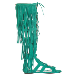 Sandales plates, D91 Emeraude, hi-res