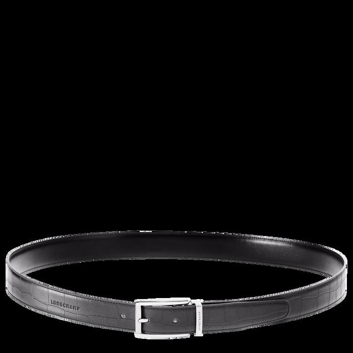 Men's belt, Black/Ebony - View 1 of  2 - zoom in