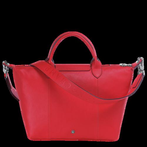Le Pliage Cuir Top handle bag M, Red