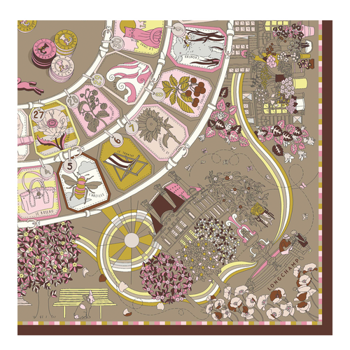 Fall-Winter 2021 Collection Silk scarf, Pinky