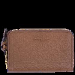 Compact wallet, Cognac