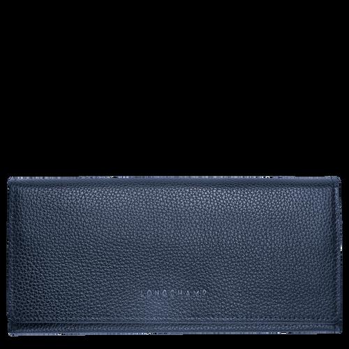 Long continental wallet Le Foulonné Navy (L3044021556) | Longchamp US