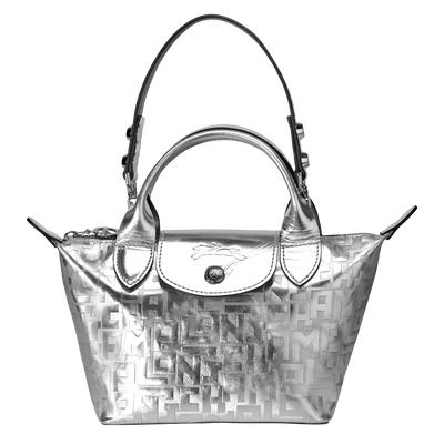 Mini top-handle bag, 023 Silver, hi-res