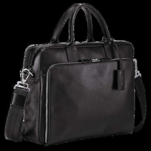 Briefcase M, Black, hi-res - View 2 of 3