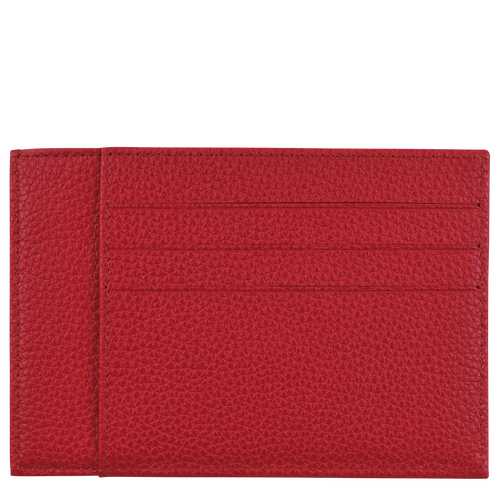 Le Foulonné Card holder, Red