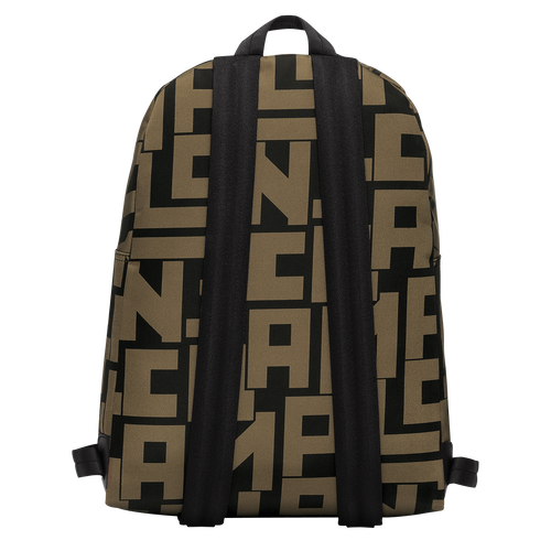 Backpack M, Black/Khaki, hi-res - View 3 of 3