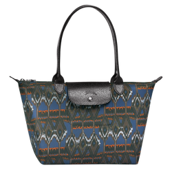 Ikat Tote bag S, 006 Navy, hi-res