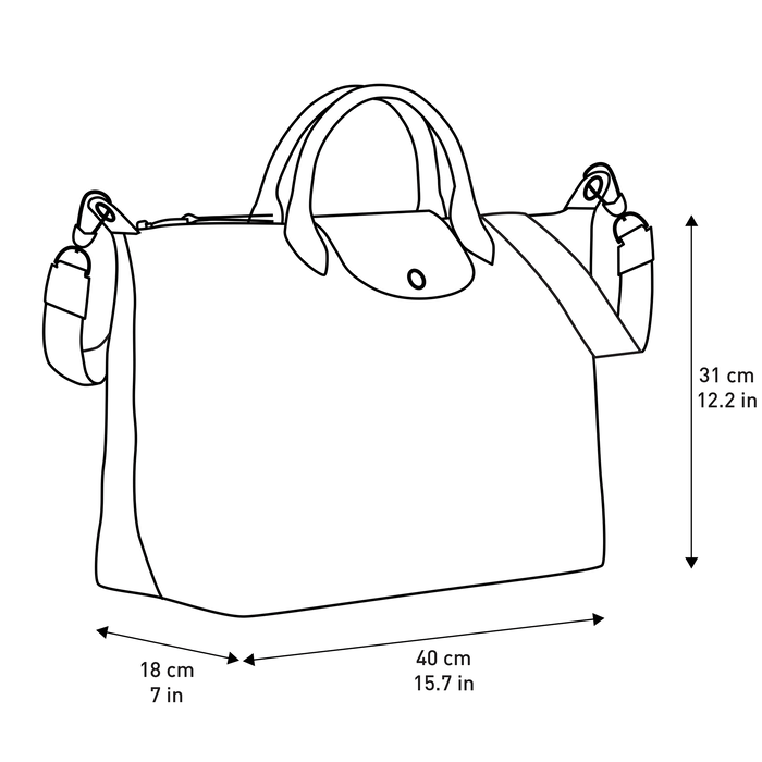 Top handle bag L, Black/White - View 4 of  4 - zoom in
