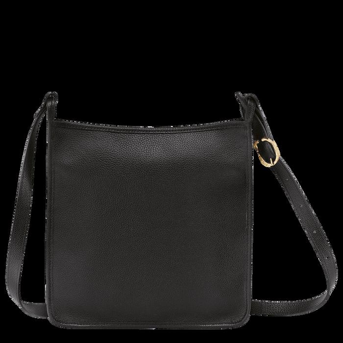 Le Foulonné Zipped crossbody bag L, Black