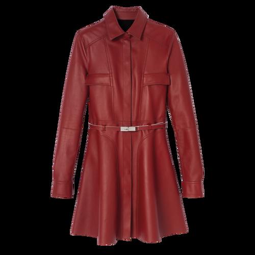 Mid-length coat, Mahogany, hi-res - View 1 of 1