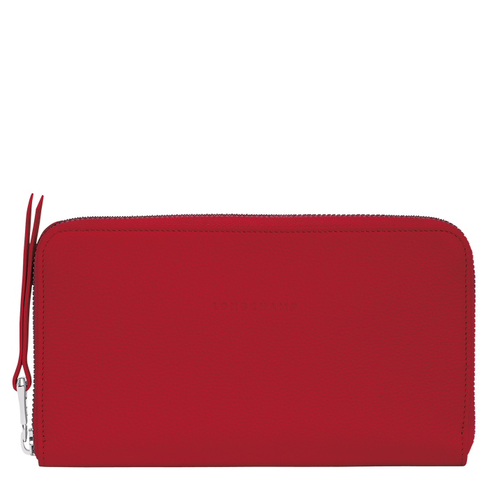 Long zip around wallet, Red, hi-res - View 1 of 2