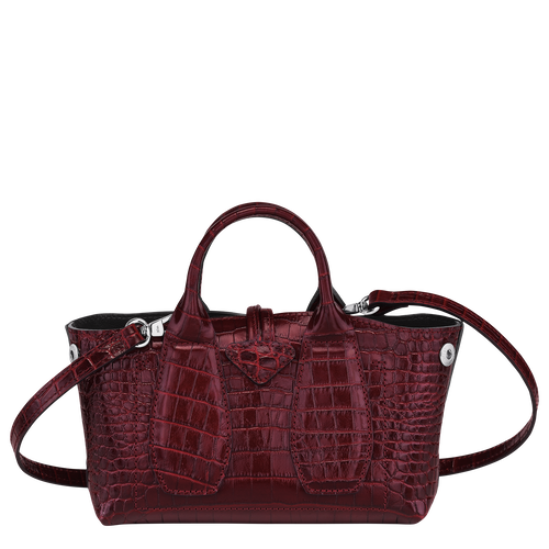 Top handle bag XS, Burgundy - View 4 of 4 -