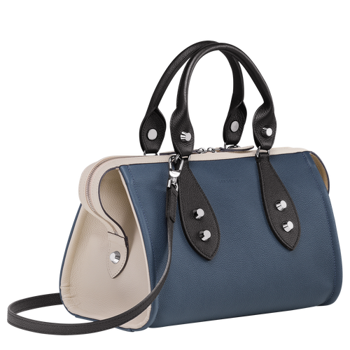 Top handle bag, Pilot Blue/Black/Chalk, hi-res - View 2 of 3