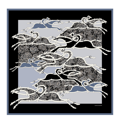 View 1 of Silk scarf, A30 Blue Mist, hi-res