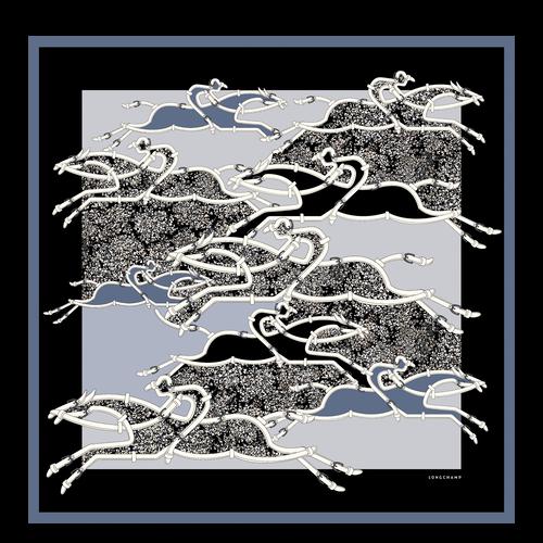 View 1 of Zijden sjaal, Nevelgrijs, hi-res