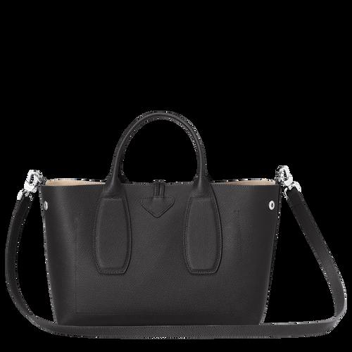View 4 of Top handle bag M, Black, hi-res