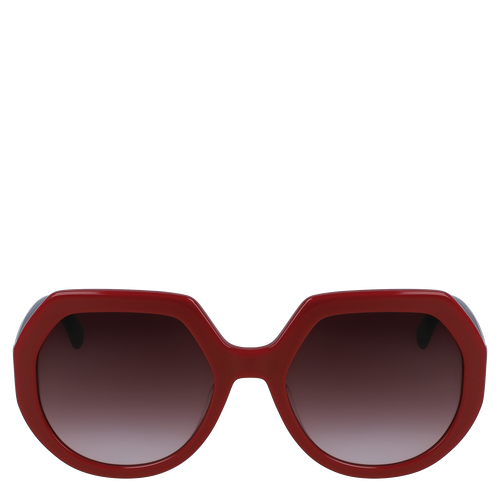 Sunglasses, Ivory/Burgundy, hi-res - View 1 of 2
