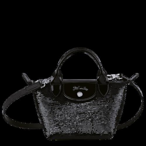 Tas met handgreep aan de bovenkant XS, Zwart/Ebbenhout - Weergave 1 van  3 -
