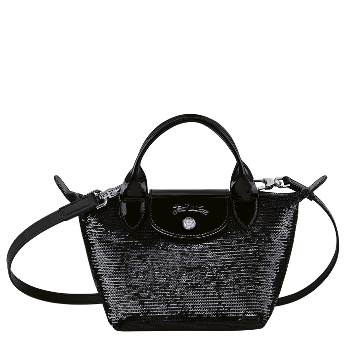Tas met handgreep aan de bovenkant XS, Zwart/Ebbenhout - Weergave 1 van  3 - Meer inzoomen.