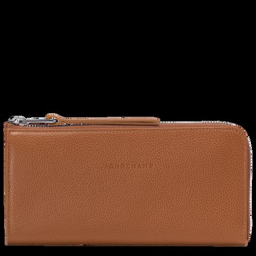 View 1 of Langformat Brieftasche mit Reissverschluss, Caramel, hi-res