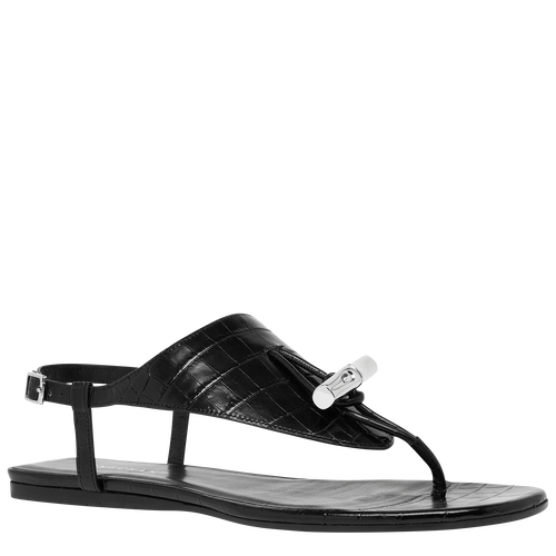Flat sandals, Black - View 2 of  3 -