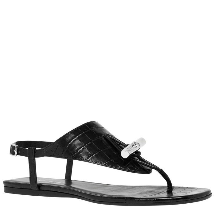 Flat sandals, Black - View 2 of  3 - zoom in