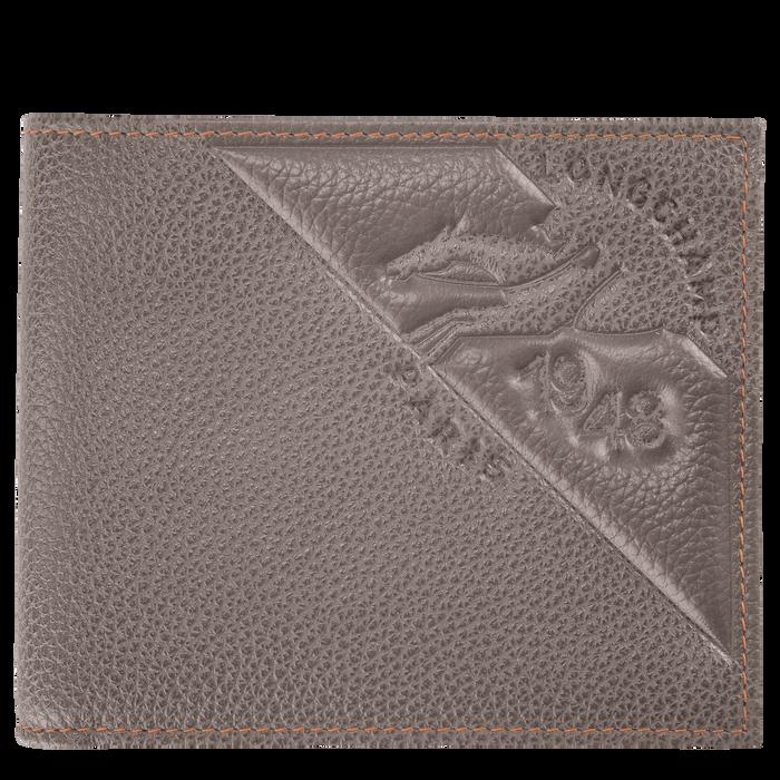 Le Foulonné Wallet, Taupe