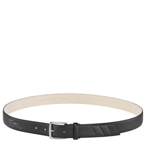 Le Foulonné Men's belt, Black