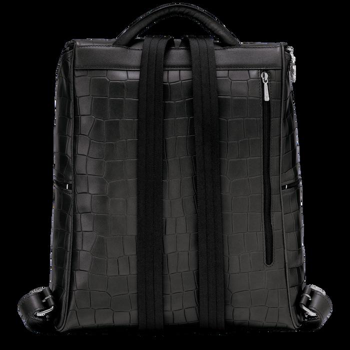 Croco Block Backpack, Black