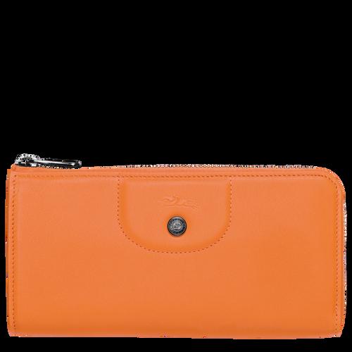 Long zip around wallet, Orange, hi-res - View 1 of 2