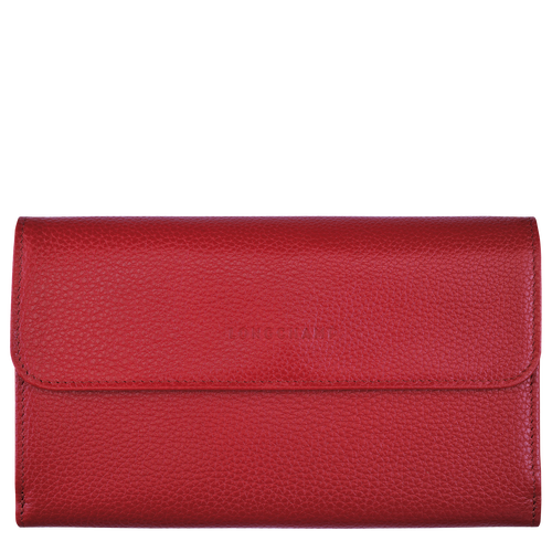 Long continental wallet Le Foulonné Red (L3524021545) | Longchamp US