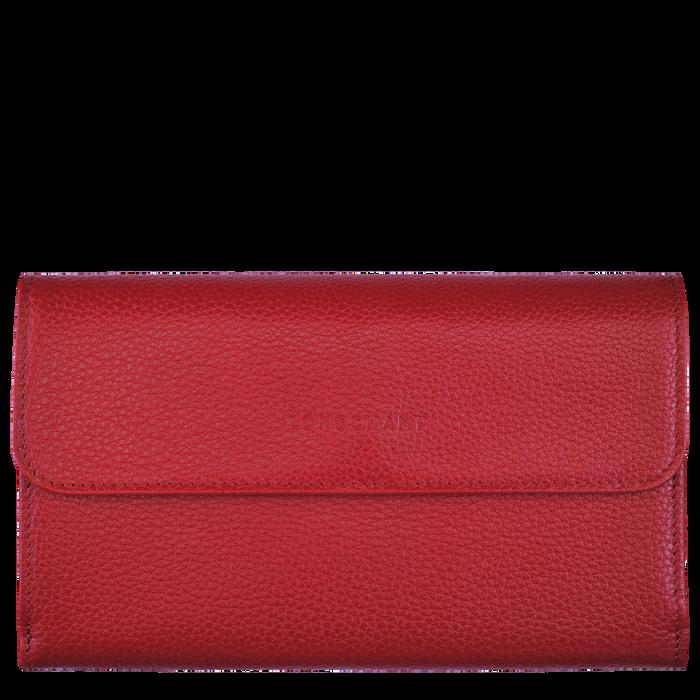 Long continental wallet Le Foulonné Red (L3524021545)   Longchamp US