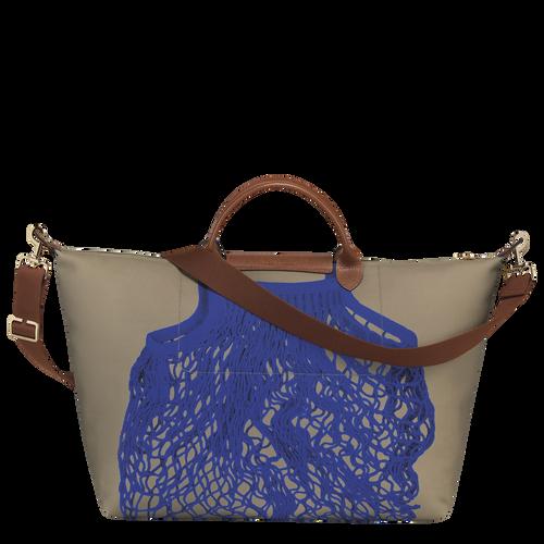Travel bag L, Khaki/Blue - View 3 of  3 -