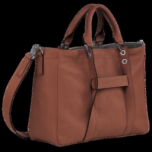 Sac porté main M Longchamp 3D Cognac (L1285772504) | Longchamp FR