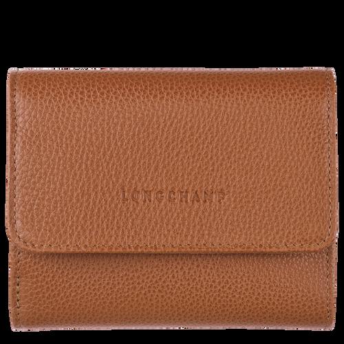 Compact wallet Le Foulonné Caramel (30000021F72) | Longchamp US