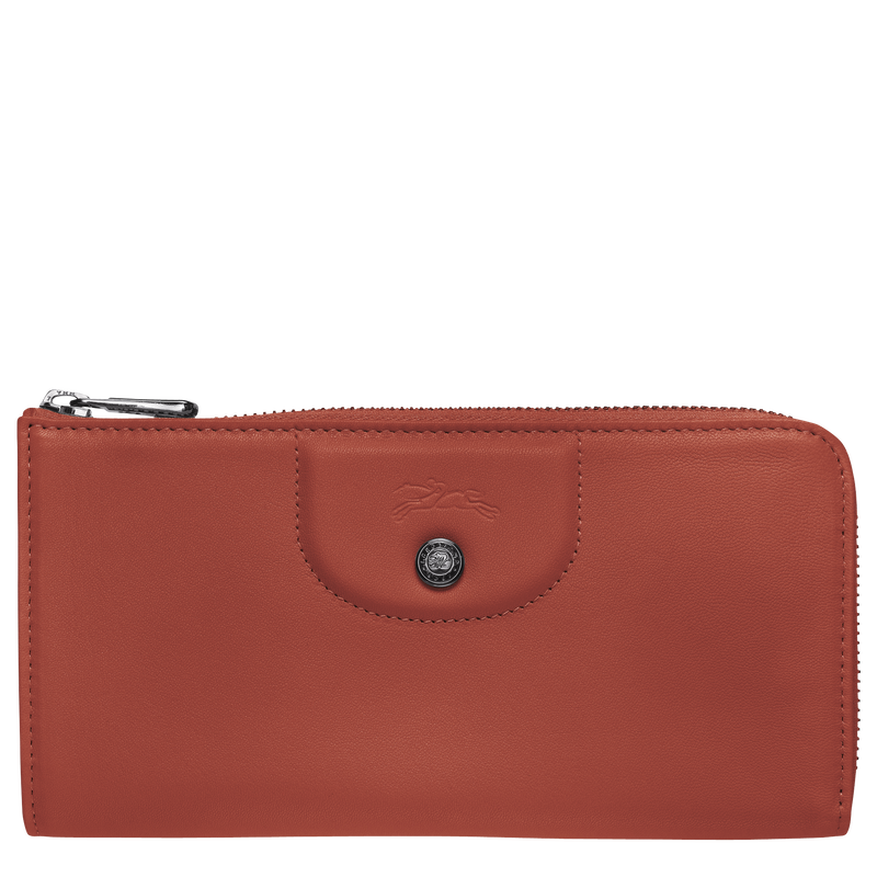 Le Pliage Cuir Long wallet with zip around, Sienna