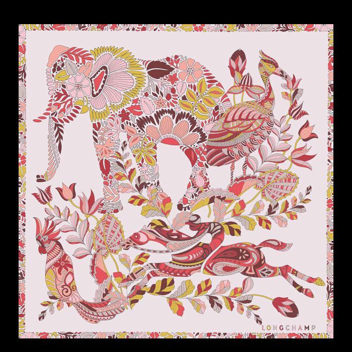 2021 가을겨울 컬렉션 실크 스카프, 페일 핑크