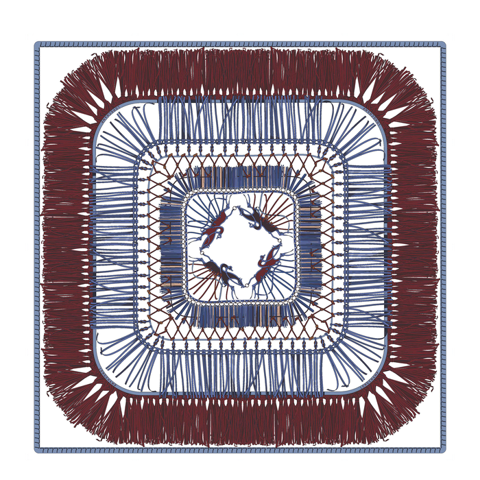Spring-Summer 2021 Collection Silk scarf, Mahogany