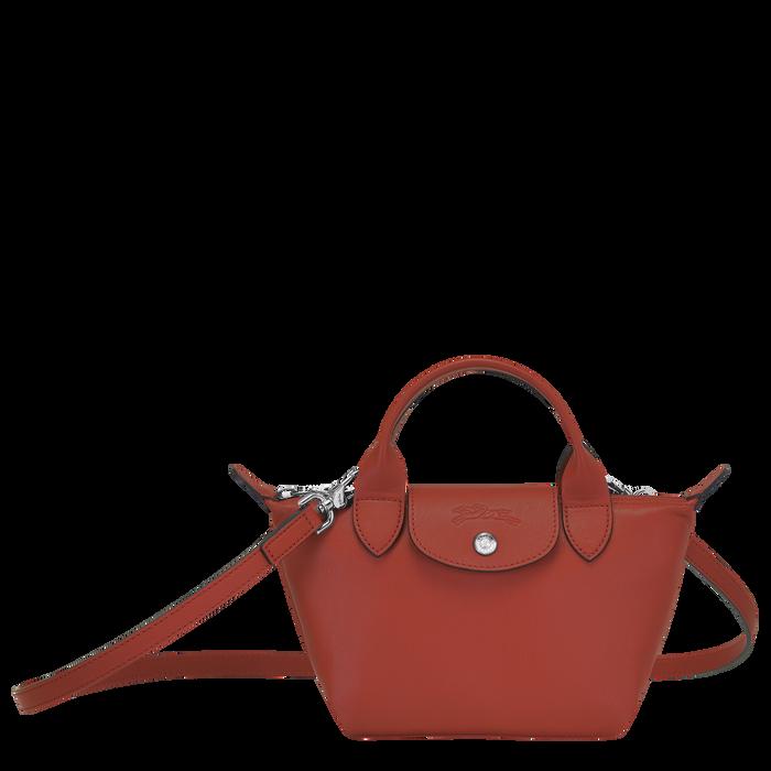 Le Pliage Cuir Top handle bag XS, Sienna
