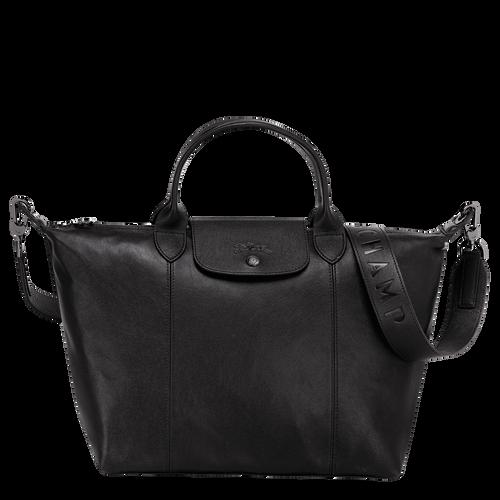 Top handle bag M Le Pliage Cuir Black (L1515757001) | Longchamp US
