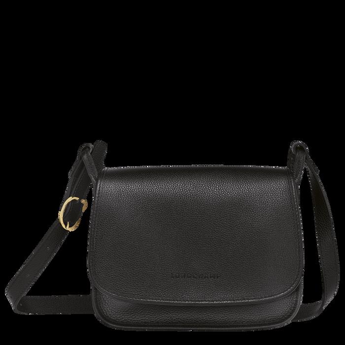 Le Foulonné Crossbody bag M, Black