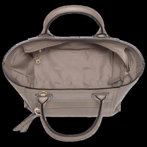 Mailbox Top handle bag M, Taupe