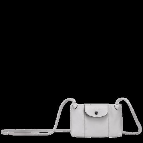 Sac porté travers Le Pliage Cuir Gris (L1061757263) | Longchamp BE