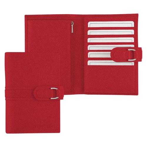 Portefeuille compact, 608 Vermillon, hi-res