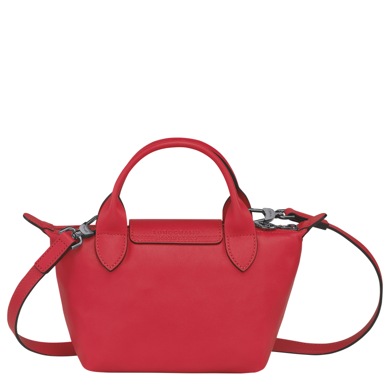 Le Pliage Cuir Top handle bag XS, Red Kiss