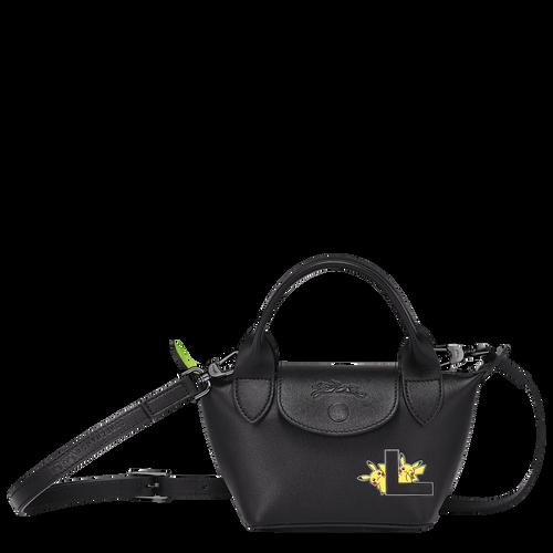 Tas met handgreep aan de bovenkant, Zwart/Ebbenhout - Weergave 1 van  3 -